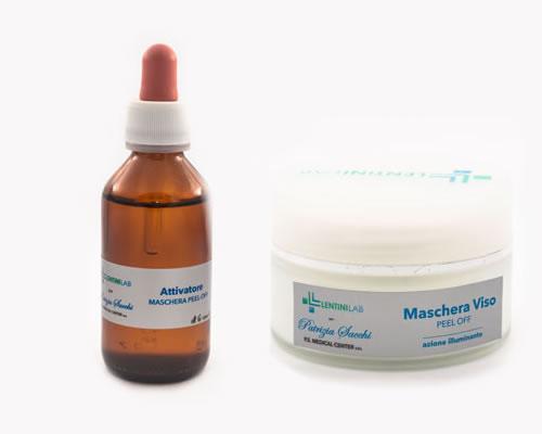 Maschera peel-off viso ad azione illuminante (con attivatore) - 100 ml